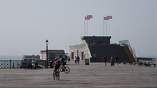 pier in Hastings, England