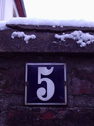 House numbering - A house number in Germany.