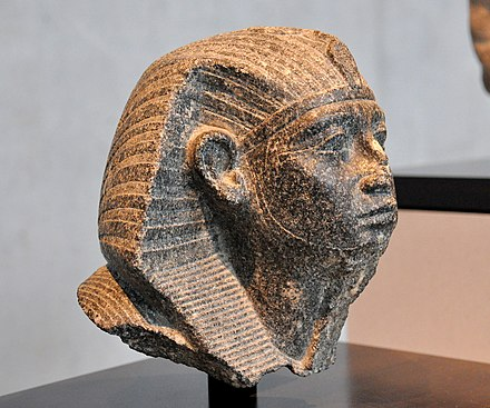 Head of Senusret III with youthful features. 12th Dynasty, c. 1870 BC. State Museum of Egyptian Art, Munich Head of Senusret III with youthful features. 12th Dynasty, c. 1870 BC. State Museum of Egyptian Art, Munich.jpg