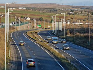 A465 road - Image: Heads of the Valleys Road nr Tafarnaubach (3252820)