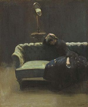 Walter Sickert - The Acting Manager or Rehearsal: The End of the Act, (portrait of Helen Carte), c. 1885