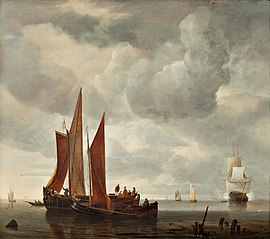 Ships outside Dordrecht
