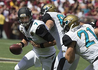 Chad Henne - Henne handing off to Toby Gerhart