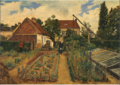 Henri de Braekeleer - Flower growing garden.tiff