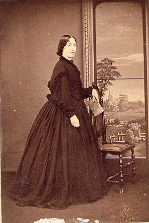 John Langhorne (King's School Rochester) - Henrietta Long of Harston Hall, Cambridgeshire (1836 - 1869), first wife of John Langhorne