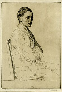 Henry Newbolt: etching by William Strang, 1898