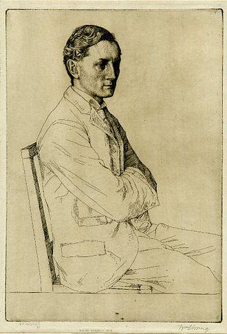 Henry Newbolt - Henry Newbolt: etching by William Strang, 1898