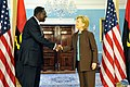 Hillary Clinton meets with Angolan Minister of External Affairs Ansuncao Afonso dos Anjos, May 2009-4.jpg