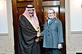 Hillary Rodham Clinton shakes hands With Prince Mohammed bin Naif bin Abdulaziz 2013-01-16.jpg