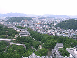 Himeji and castle grounds.jpg