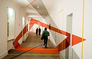 Akademie Schloss Solitude - Interior view with architectural installation