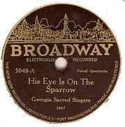 Georgia Sacred Singers - His Eye Is on the Sparrow