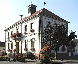The town hall in Holtzwihr