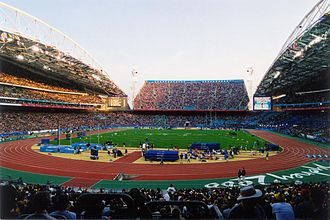 Football at the 2000 Summer Olympics - Image: Homebush stadium