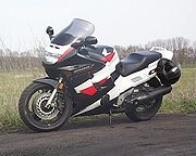 An example of a fairing on a Honda CBR1000F