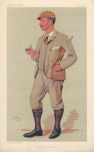Horace Hutchinson - Caricature by Spy of Hutchinson (1890), from Vanity Fair magazine
