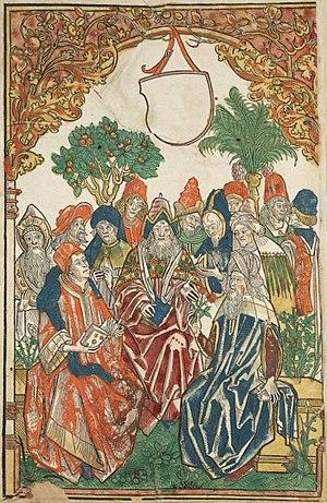 Hortus Sanitatis - Frontispiece of 1485 edition