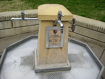 Water Fountain for drinking hot spring water, ...