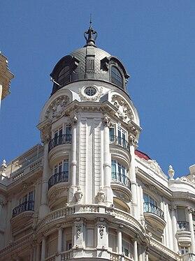 Hotel Atlántico (Gran Vía 38, Madrid) 04.jpg