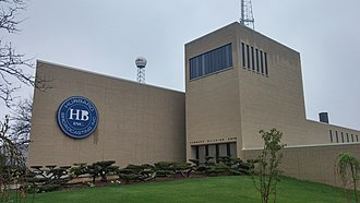 Hubbard Broadcasting - The Hubbard Broadcasting headquarters in St. Paul, Minnesota, with the KSTP SkyMax 5 tower in the background.