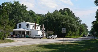 Huger, South Carolina - Downtown Huger: intersection of South Carolina Highways 41 and 402