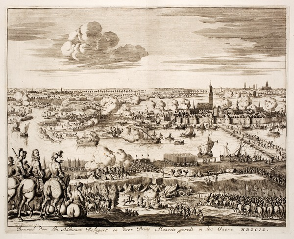 Siege of Zaltbommel by the Spanish in 1599 by Hugo Grotius