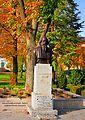 Hungary, Balatonfüred, Rabindranath promenade in autumn - Tagore statue Big version.jpg