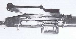 Huot Automatic Rifle - View inside the Huot breech