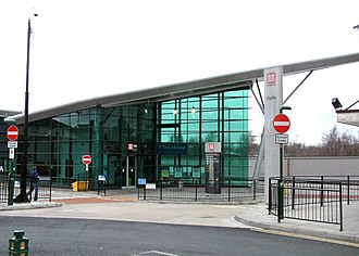 Hyde, Greater Manchester - Hyde bus station served by TfGM
