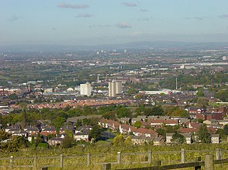 Hyde, Greater Manchester - Image: Hyde from Werneth Low