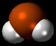 Spac-satiga modelo de la hidrogena polonidmolekulo