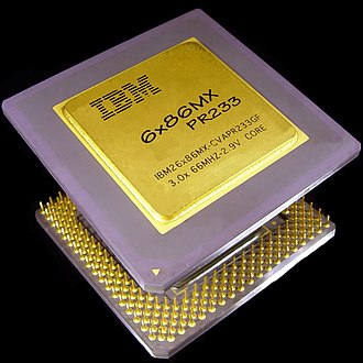 Cyrix 6x86 - Cyrix 6x86MX  198MHz sold under IBM label