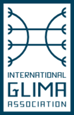 Glima - The Official logo of the IGA association Two staves, kept in the shoes, gapaldur under the heel of the right foot and ginfaxi under the toes of the left foot, to magically ensure victory in bouts of Icelandic wrestling (glíma).