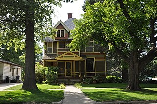 Alvin Bushnell Bell House historic house located at 310 Quimby Street in Ida Grove, Iowa