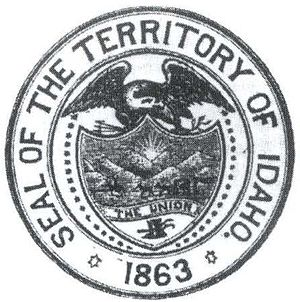 Flag and seal of Idaho - Image: Idaho Territory Seal (1863 1866)