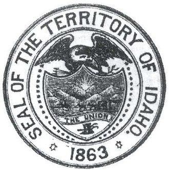 Flag and seal of Idaho - Image: Idaho Territory Seal (1863 1866)