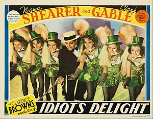 Puttin' On the Ritz - Clark Gable's deliberately corny performance of the song in Idiot's Delight (1939), his only musical performance.