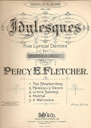 Percy Fletcher - The cover page of Percy Fletcher's Idylesques.