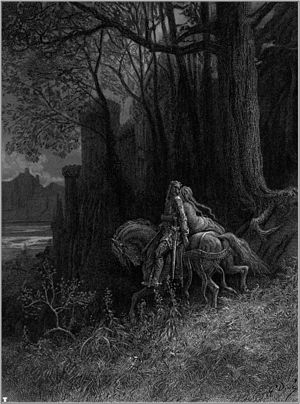 "Idylls of the King - Doré's illustration ""Geraint and Enid Ride Away"""