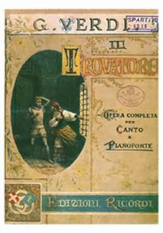 Casa Ricordi - Piano and vocal score for Verdi's Il trovatore