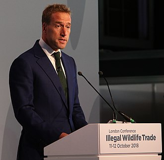 Ben Fogle - Fogle speaking at the Illegal Wildlife Trade Conference in London in 2018