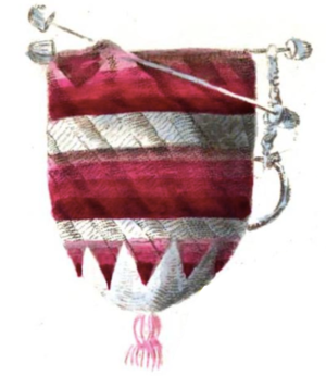 Crochet - A crocheted purse described in 1823 in Penélopé.