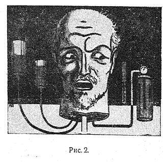 Alexander Belyaev - An illustration to Professor Dowell's Head, a novella about mad scientist reviving a disembodied head