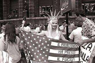 Ilona Staller - Rome Protest 1989