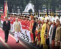 Indian Prime Minister Narendra Modi receives a guard of honor during a state visit to Indonesia, 2018.jpg