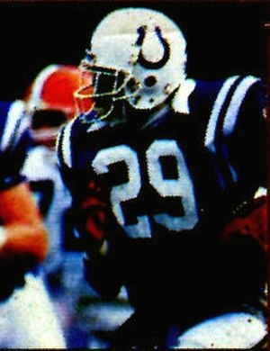 Eric Dickerson - Dickerson rushing the ball during his first year with the Colts in 1987