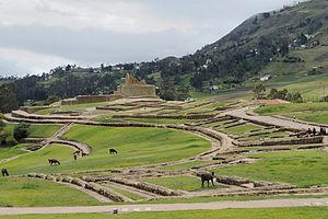 Ingapirca - Overall view of the site of Ingapirca