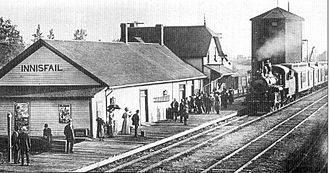 Innisfail, Alberta - Railway station in the  1890s