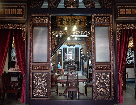 89c0bd5a4 Inside the former house of a Peranakan (Baba-Nyonya) in Malacca which has