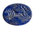 Intaglio in lapis lazuli of lazuliet met afbeelding van Victoria, 100 tot 200 NC, vindplaats- Tongeren, Paspoel, zuidwestgrafveld, losse vondst, collectie Gallo-Romeins Museum Tongeren, GRM 5875.jpg